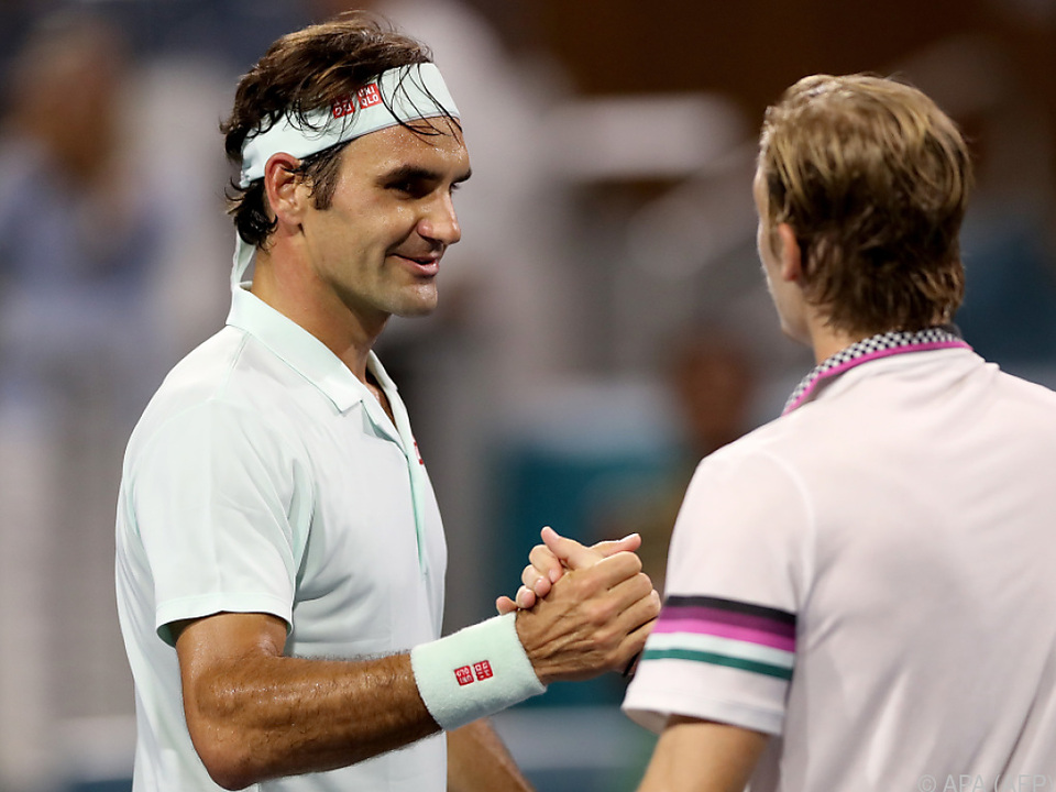 Federer besiegte den Kanadier Denis Shapovalov