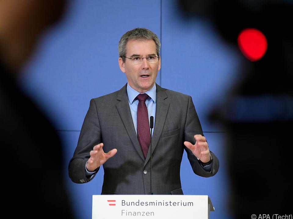Finanzminister Löger zeigte sich \