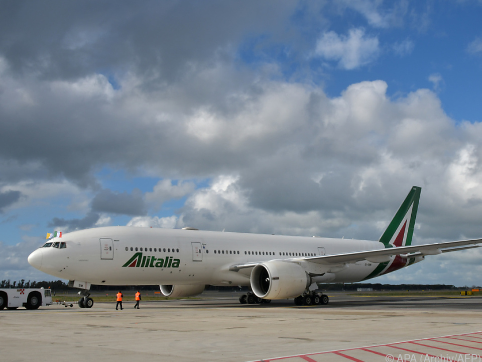 Flugzeuge von Alitalia bleiben am Boden