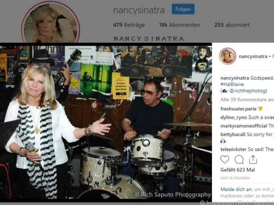 Franks Tochter Nancy Sinatra verabschiedete sich von Hal Blaine