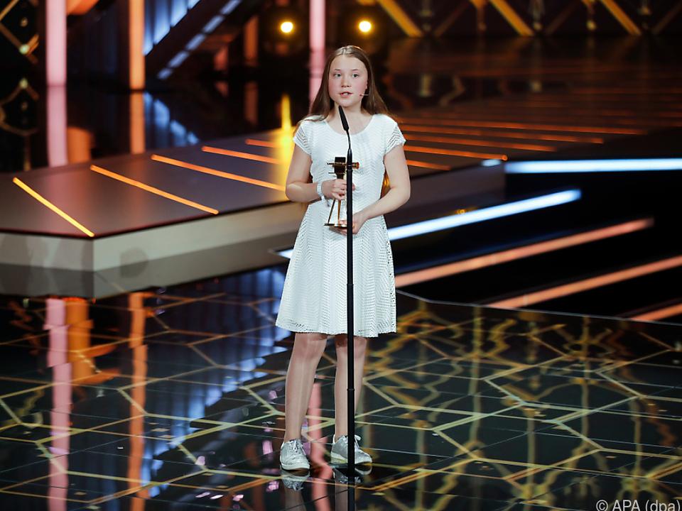 Greta Thunberg bei der Verleihung der Goldenen Kamera in Berlin