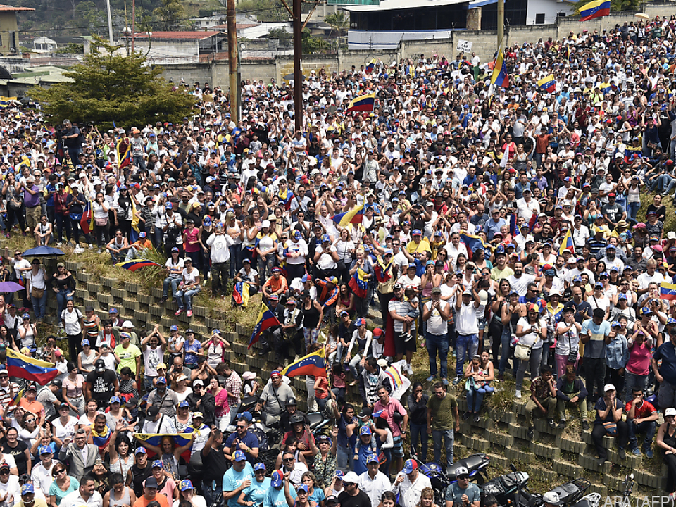 Großdemonstration der Opposition in Caracas