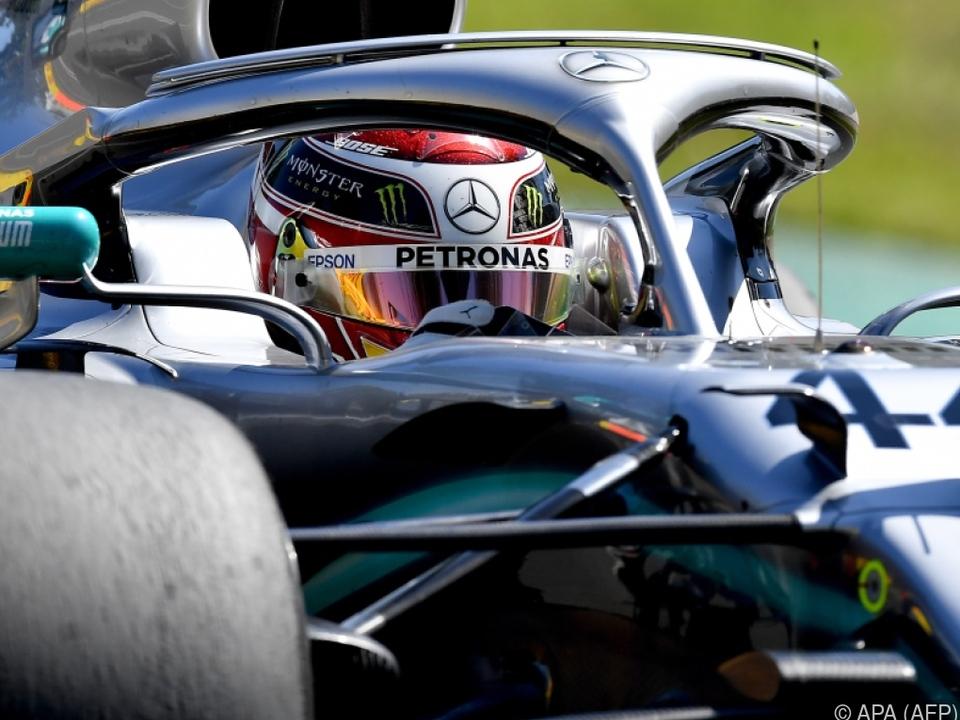 Hamilton fuhr Tagesbestzeit