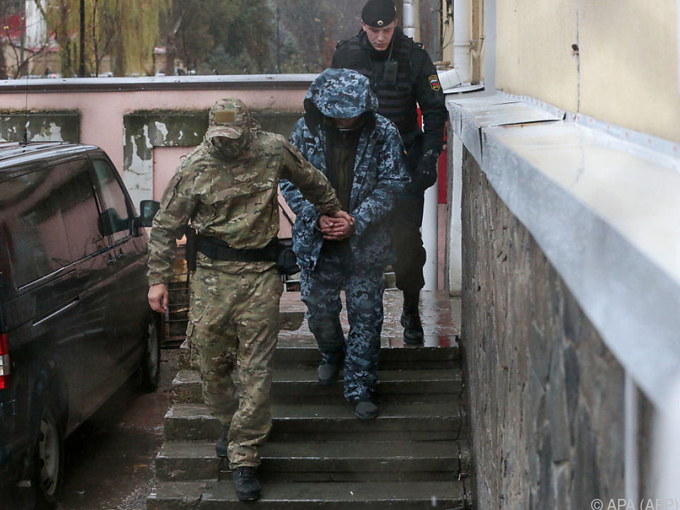 Im November nahm Russland ukrainische Seeleute fest