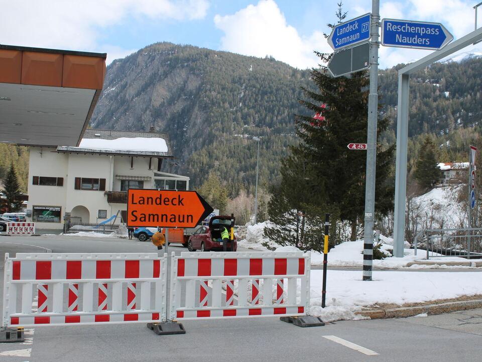 Felssturz Schweiz Umleitung Vinschgau