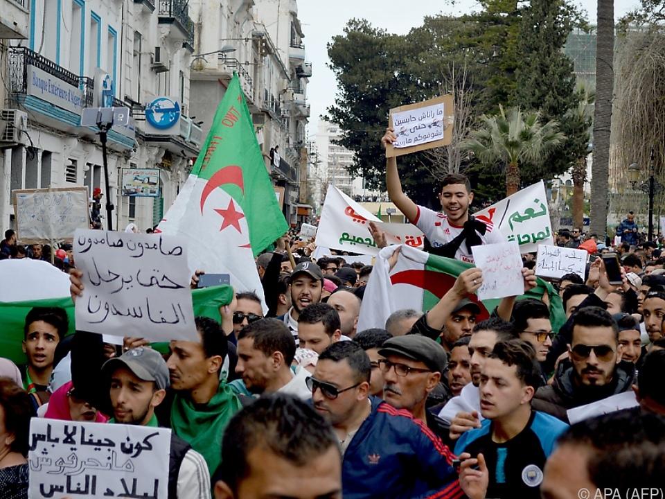 In Algerien gab es zuletzt heftige Proteste