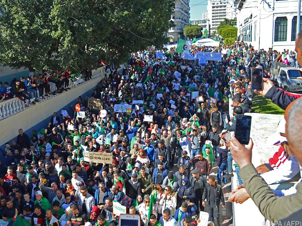 In Algerien war es zuletzt zu starken Protesten gekommen