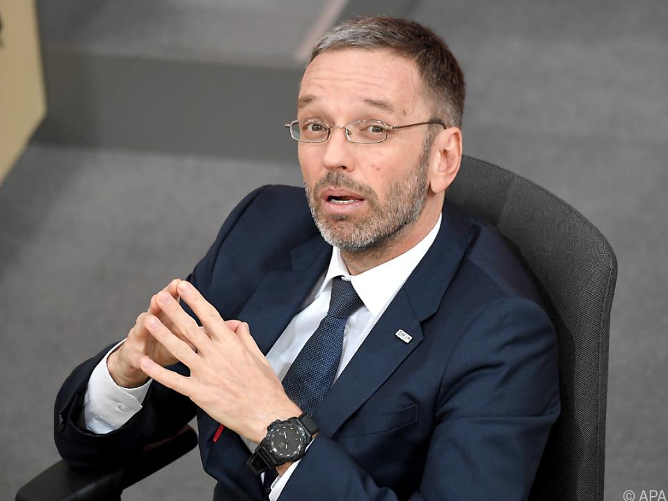 Innenminister Kickl im Ausland nicht unumstritten
