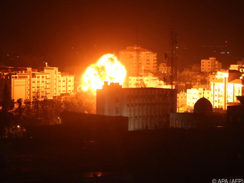 Israel reagiert auf Luftangriffe militanter Palästinenser