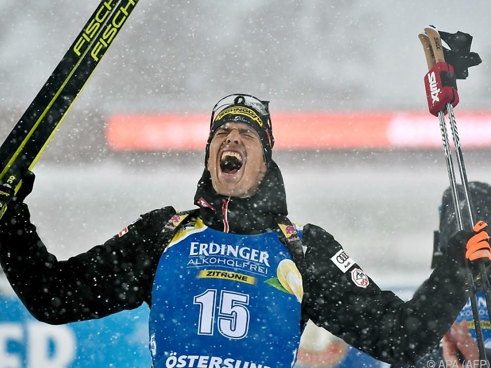 Julian Eberhard holte Bronze über 15 km bei Biathlon-WM in Östersund