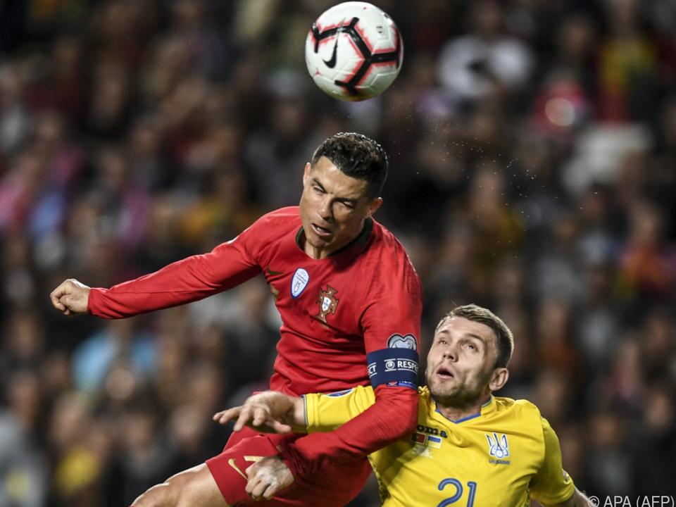 Kein Erfolgserlebnis für Ronaldo gegen die Ukraine