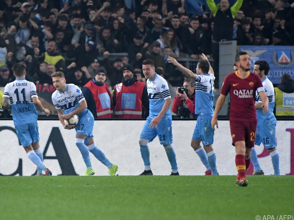 Lazio hatte zuvor in der Serie A nur eines von zwölf Derbys gewonnen