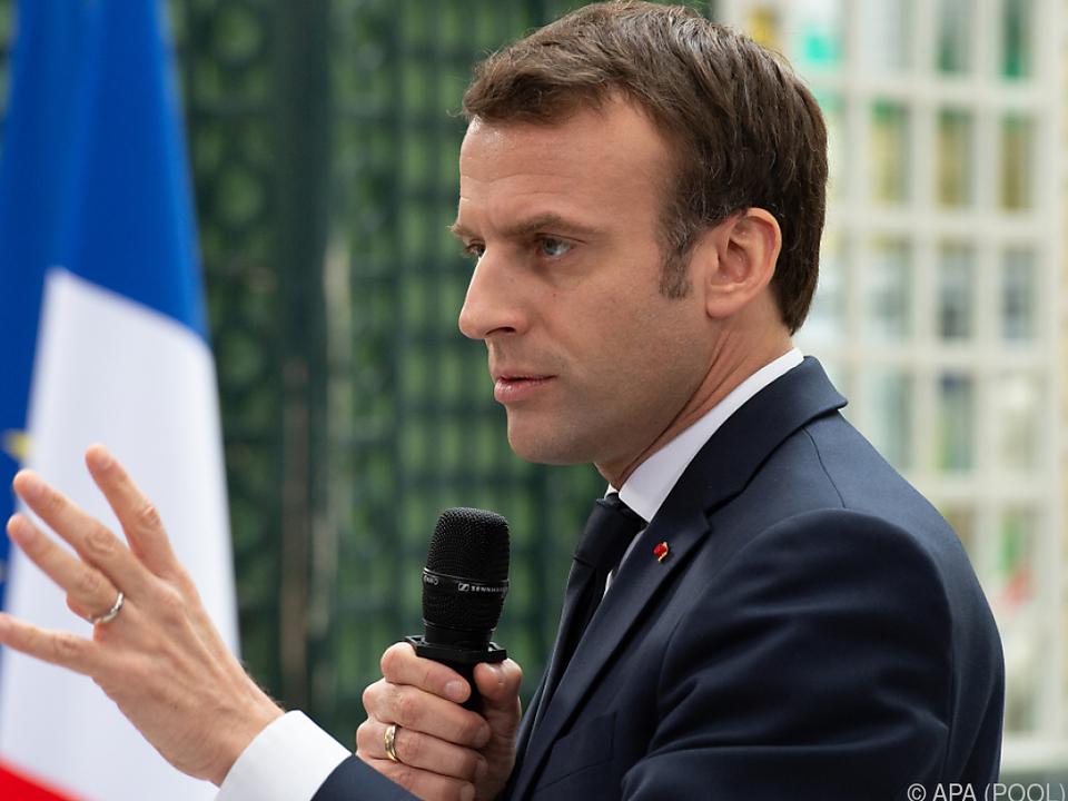 Macron hielt ein Plädoyer auf die Europäische Union