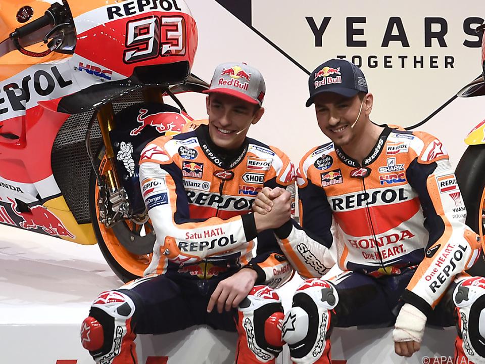 Marquez und Lorenzo sind Teamkollegen, Freunde und Gegner zugleich