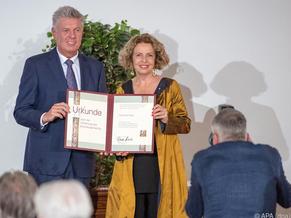 May bekam die Münchner Ehrenbürgerwürde verliehen