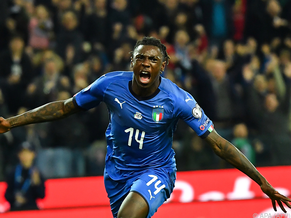 Moise Kean traf zum 2:0 Italiens gegen Finnland