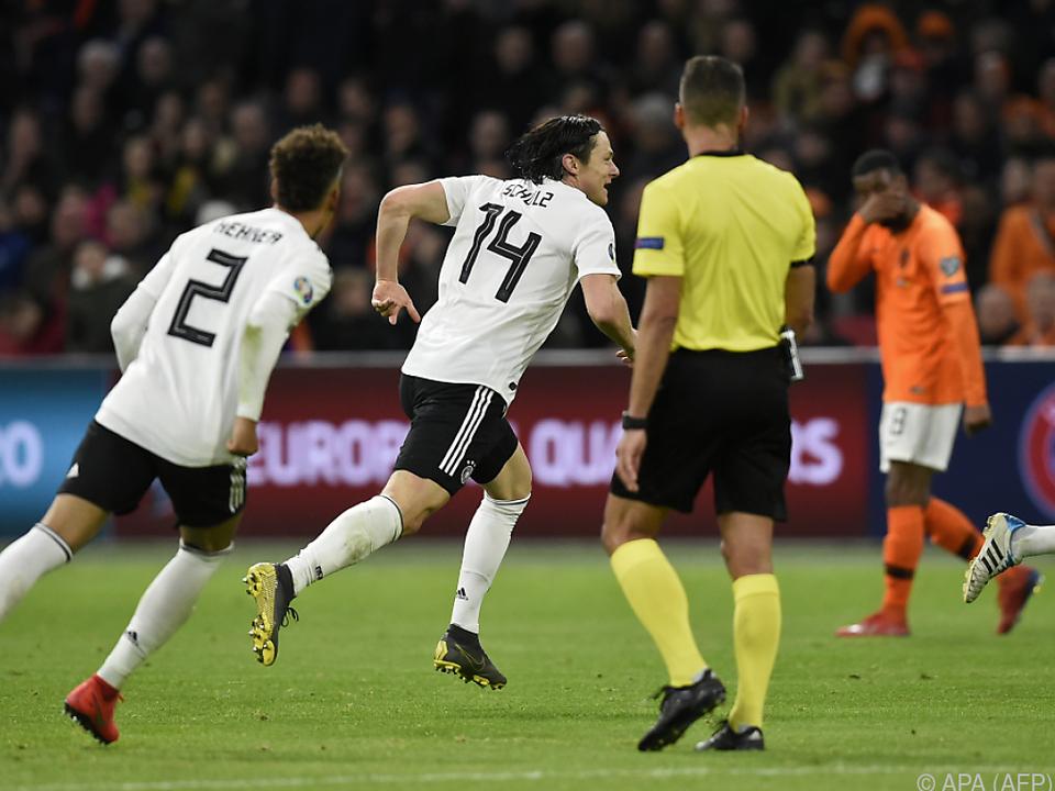 Nico Schulz gelang in letzter Minute der Siegtreffer für die DFB-Elf