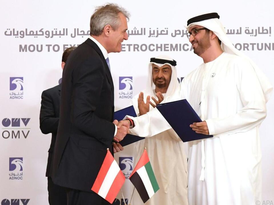 OMV-Vorstandschef Rainer Seele in Abu Dhabi