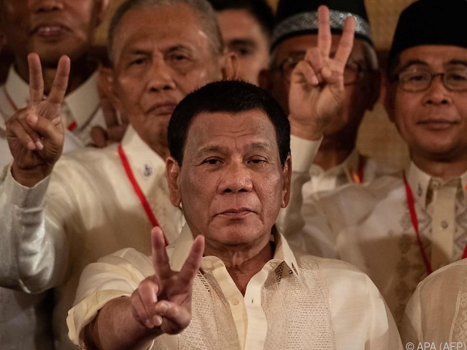 Präsident Rodrigo Duterte geht hart gegen Drogenkriminelle vor