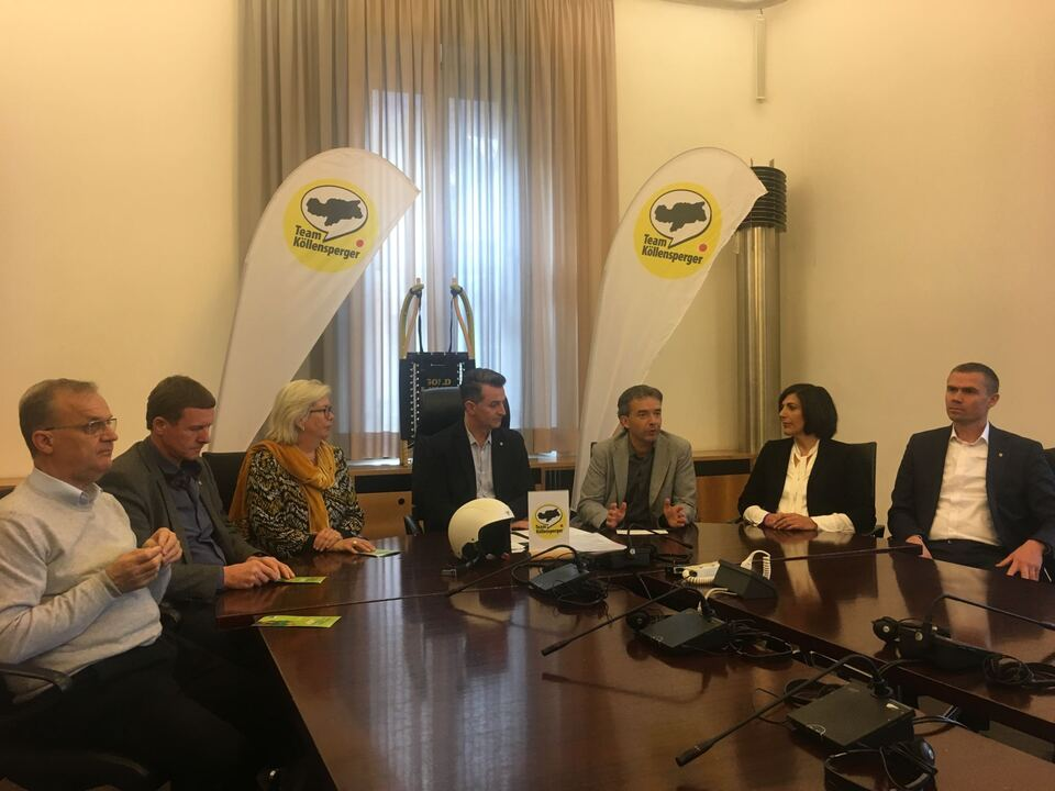 Pressekonferenz Team Köllensperger