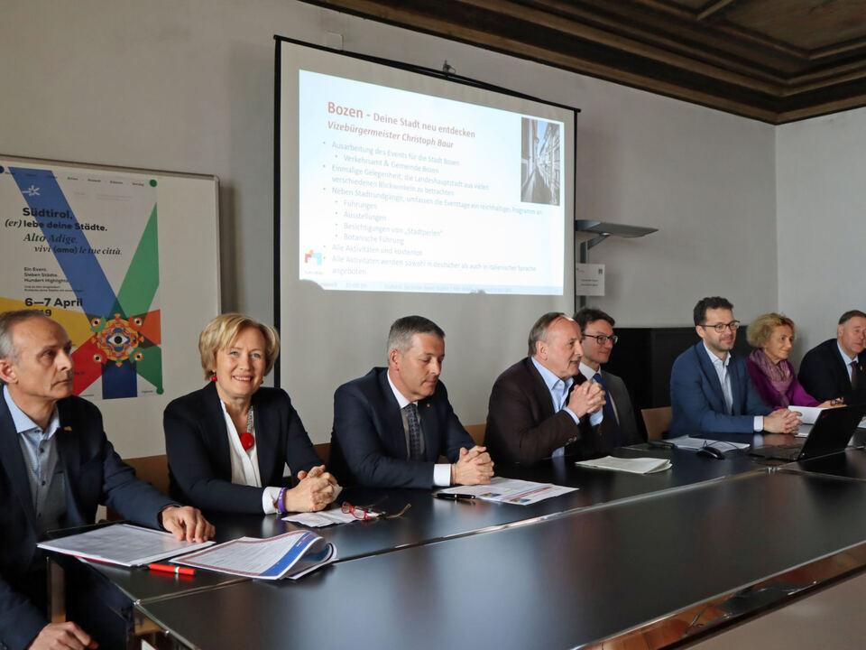Pressekonferenz Städtenetzwerk Südtirol City