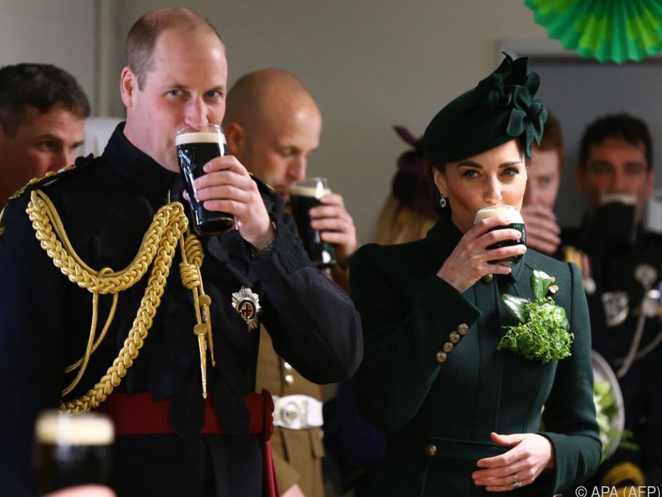 Prinz William und Herzogin Kate nahmen an einer Parade teil