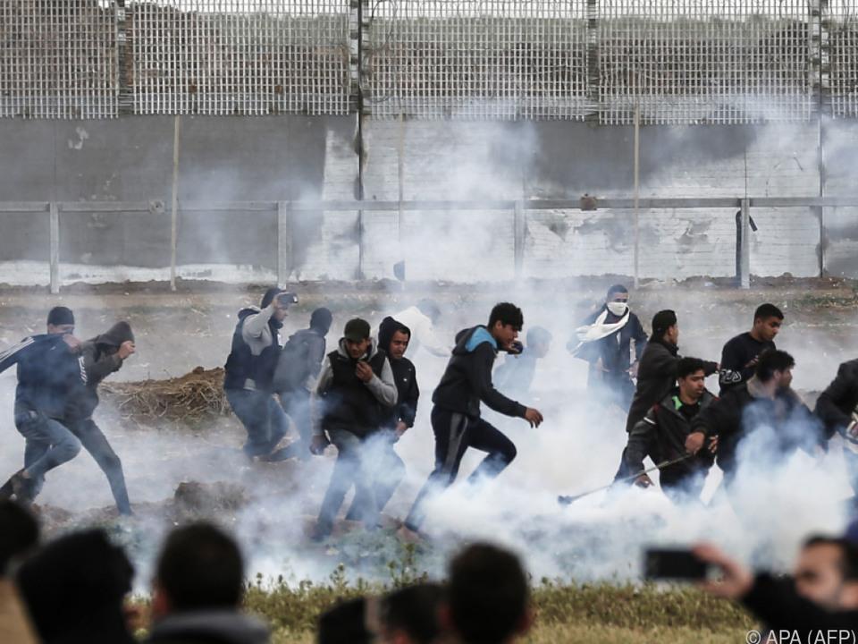 Proteste am Grenzzaun im Gazastreifen