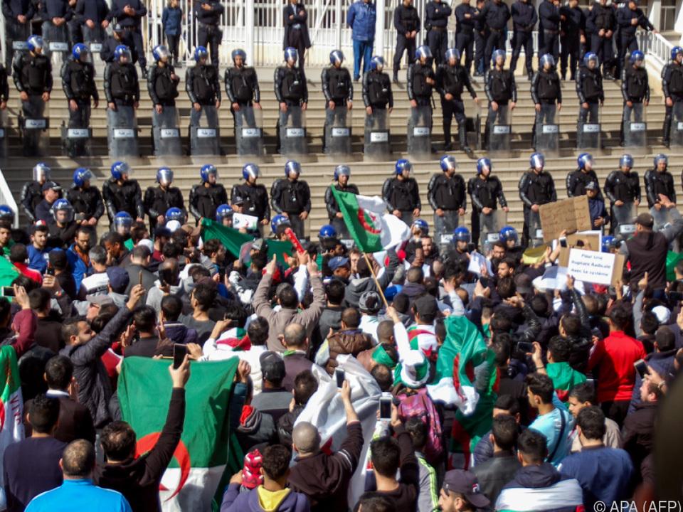 Proteste gegen Bouteflika in Algerien