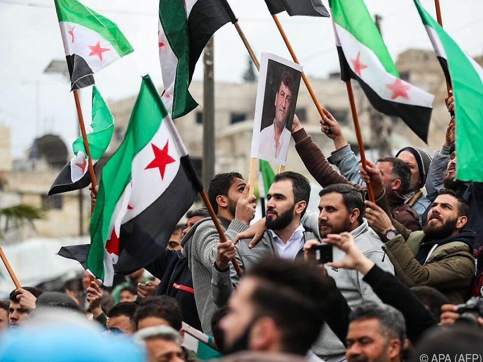 Proteste in der Provinz Idlib und im Umland der Stadt Aleppo