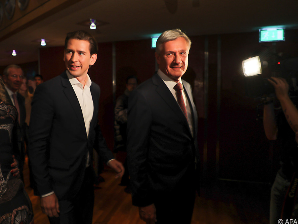 Salzburgs Bürgermeister Harald Preuner mit Kanzler Kurz