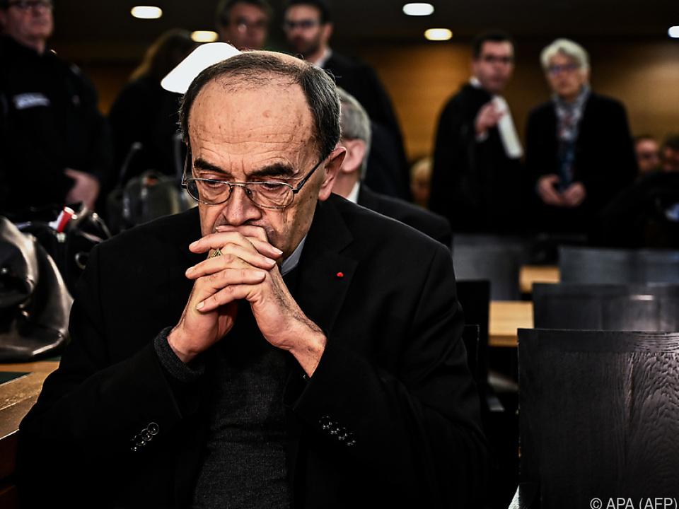 Sechs Monate Gefängnis auf Bewährung für Kardinal Barbarin