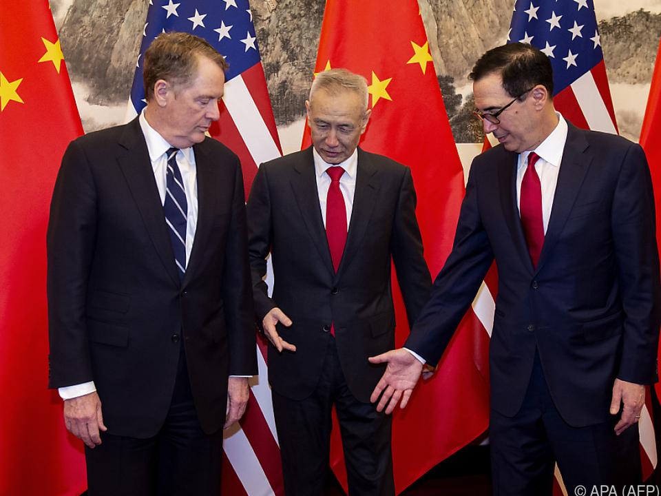 Seit Wochen pendeln Delegationen der USA und Chinas hin und her