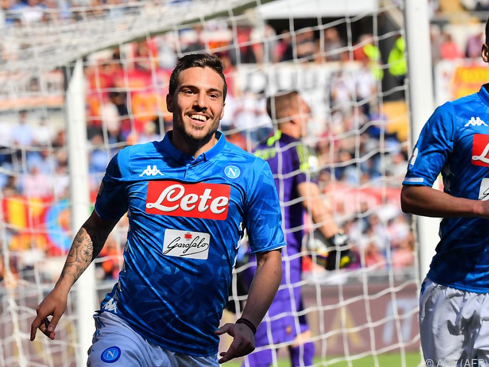 Simone Verdi traf beim 4:1-Sieg Napolis bei der AS Roma