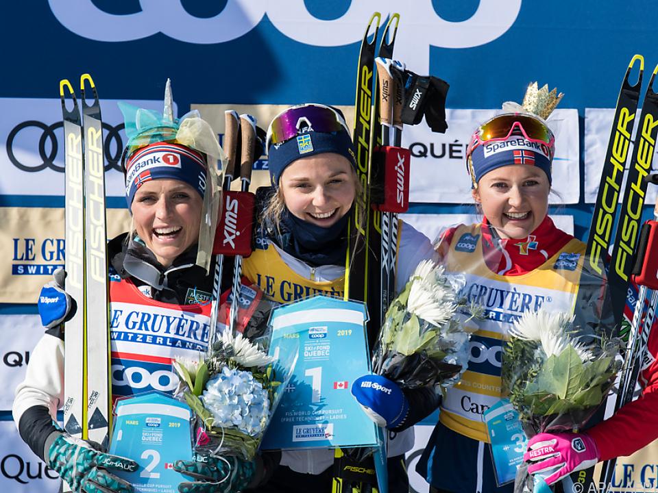 Stina Nilsson gewann vor Therese Johaug und Ingvild Flugstad Östberg