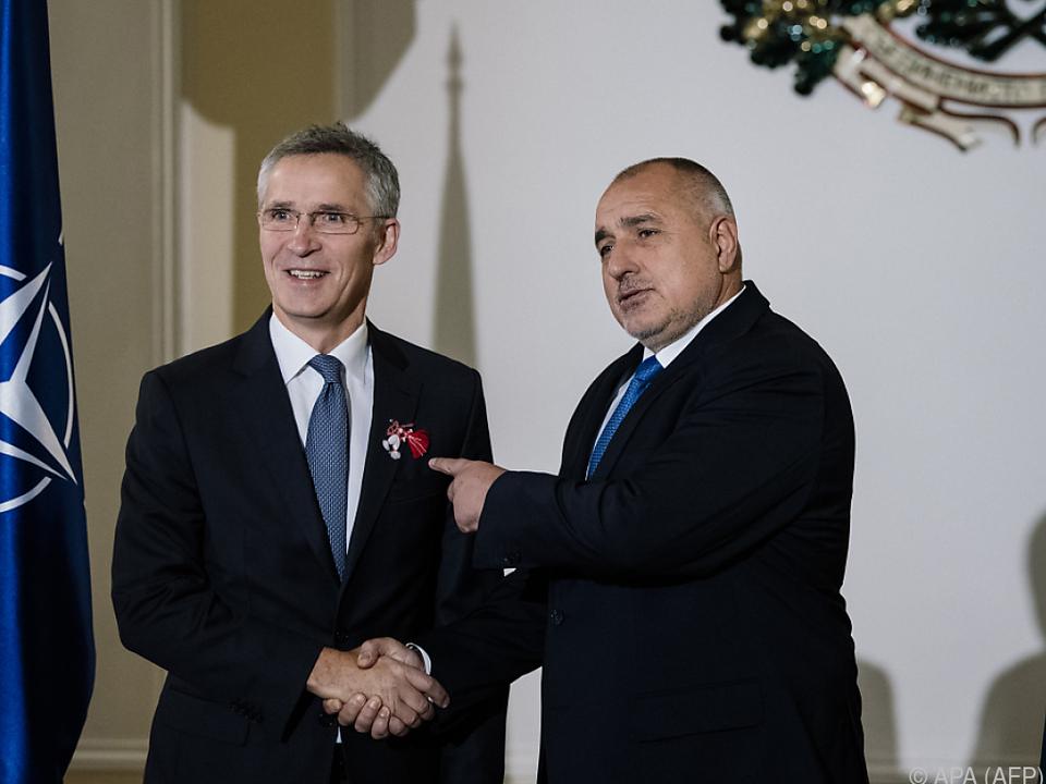 Stoltenberg zu Gast bei Borissow in Bulgarien