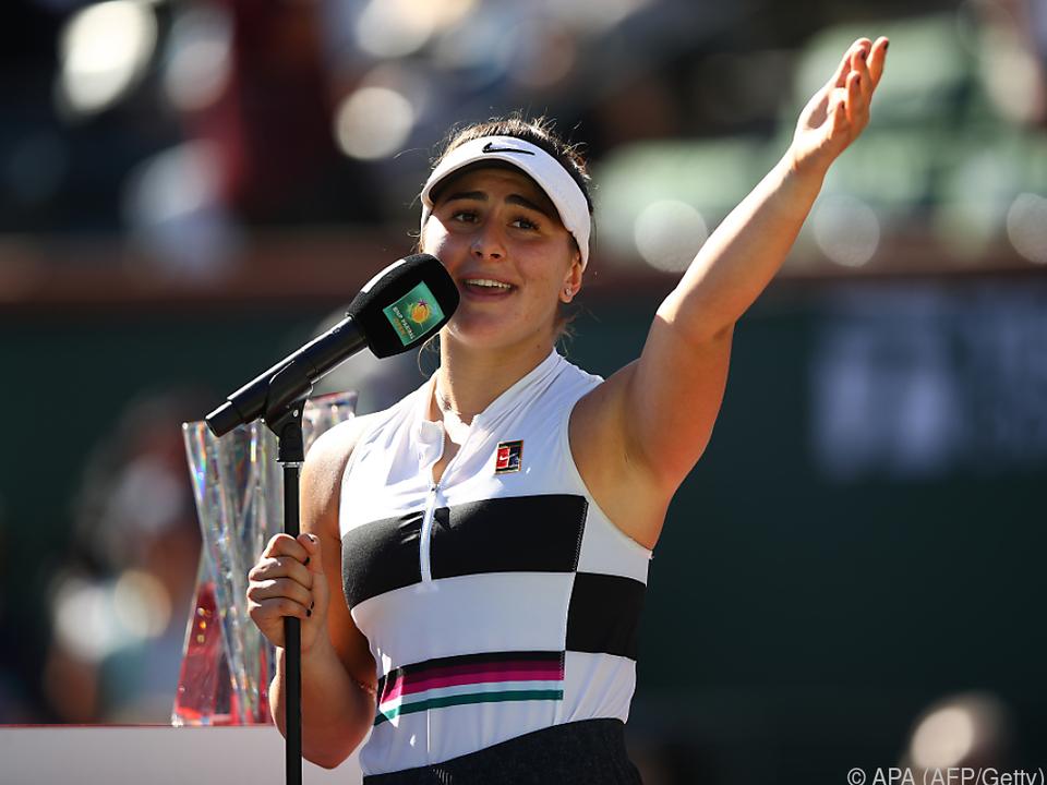 Überglückliche Bianca Andreescu