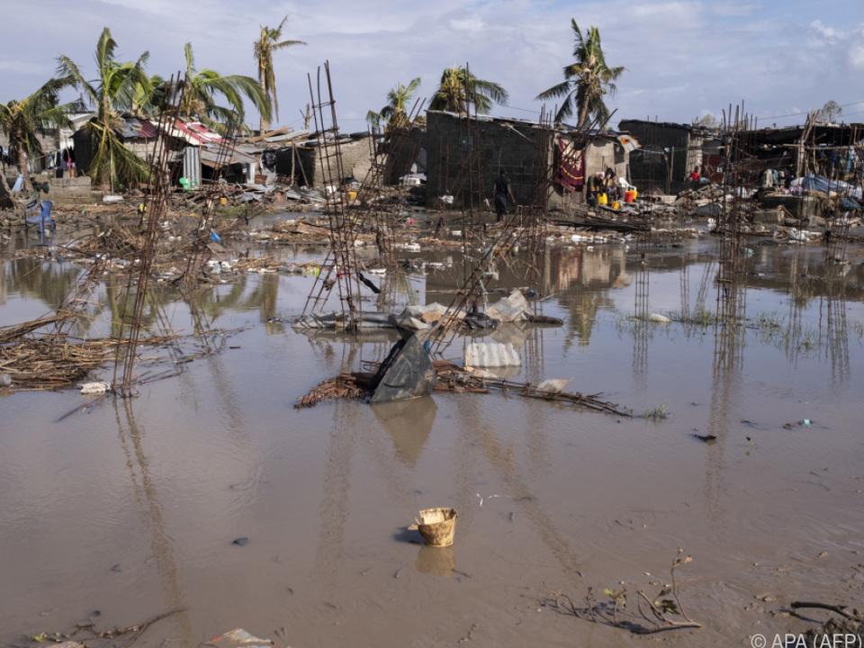 Überschwemmungen in Mosambik nach Zyklon \