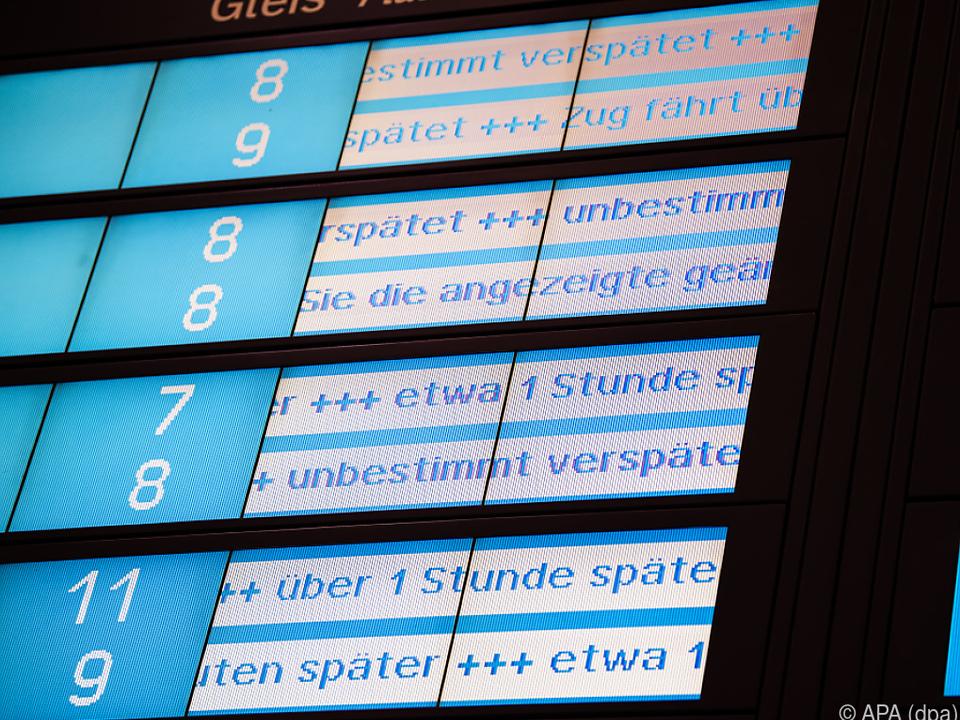 Verspätungen im Zugverkehr in Teilen Deutschlands