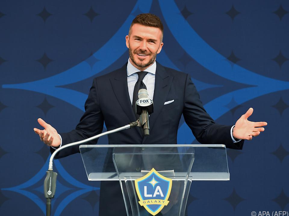 Von Beckham gibt es ein Schuldeingeständnis
