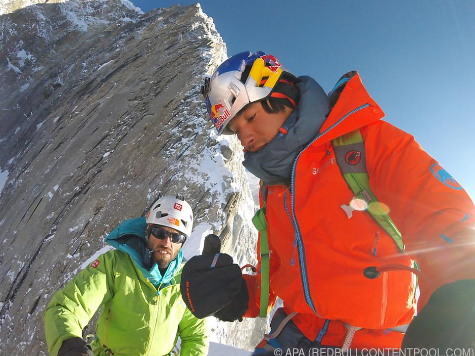 Bergsteiger Hansjörg Auer und David Lama