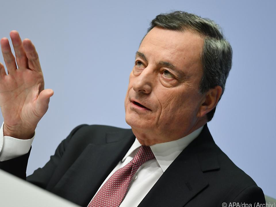 Der EZB-Präsident bleibt vorsichtig optimistisch