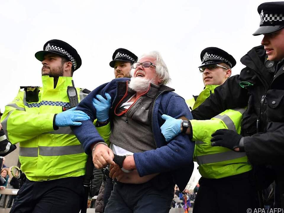 Die Polizei griff hart durch