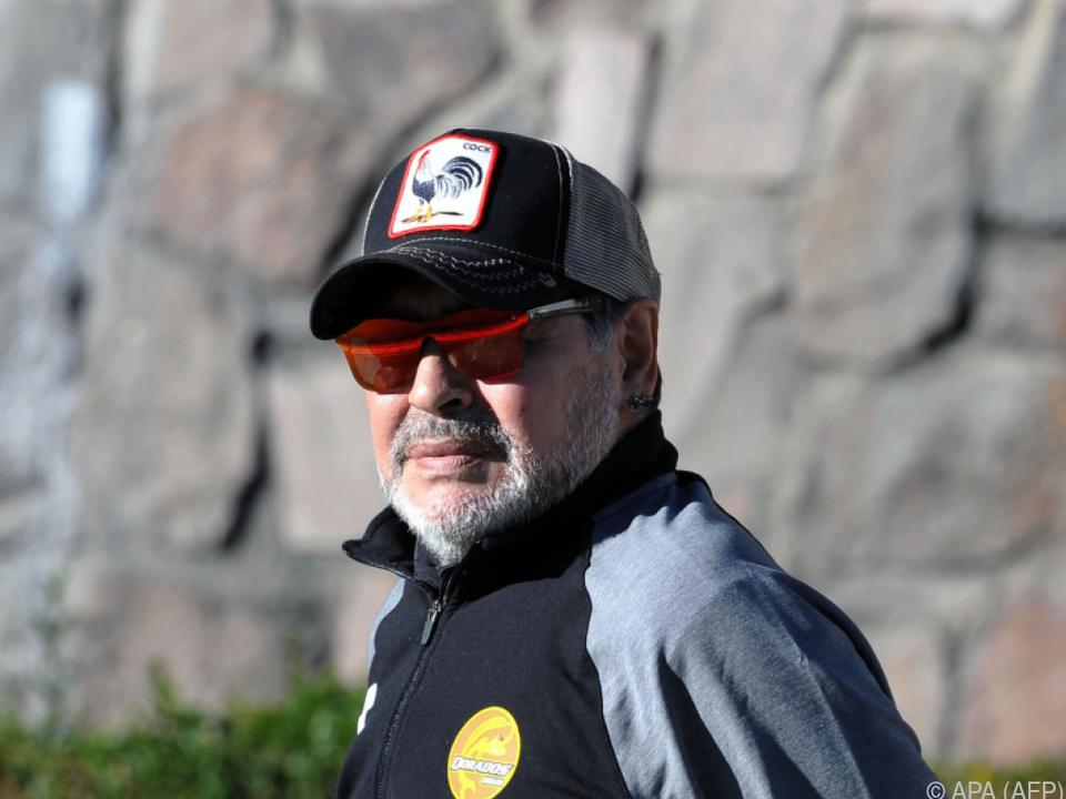Diego Maradona arbeitet derzeit in Mexiko