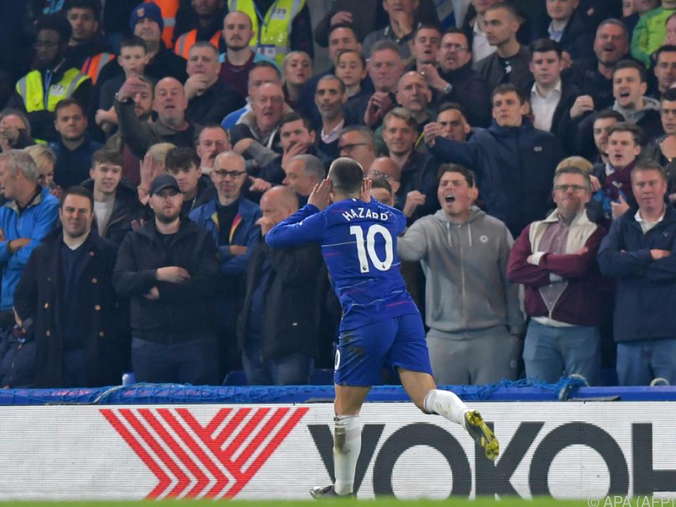 Hazard hievte Chelsea zum Sieg