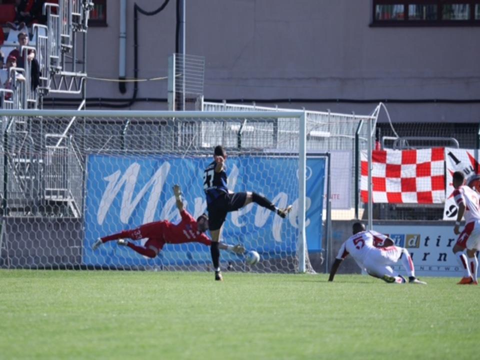 Il gol dello 0-1 del Renate