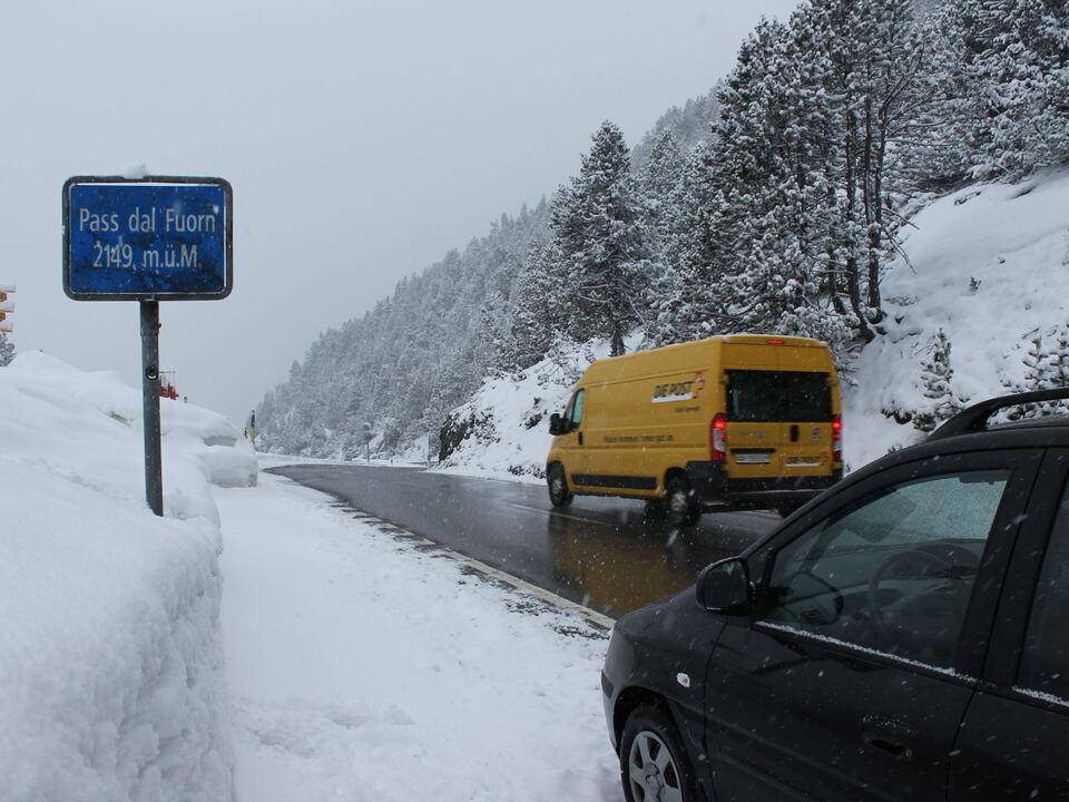Vinschgau Münster Schnee