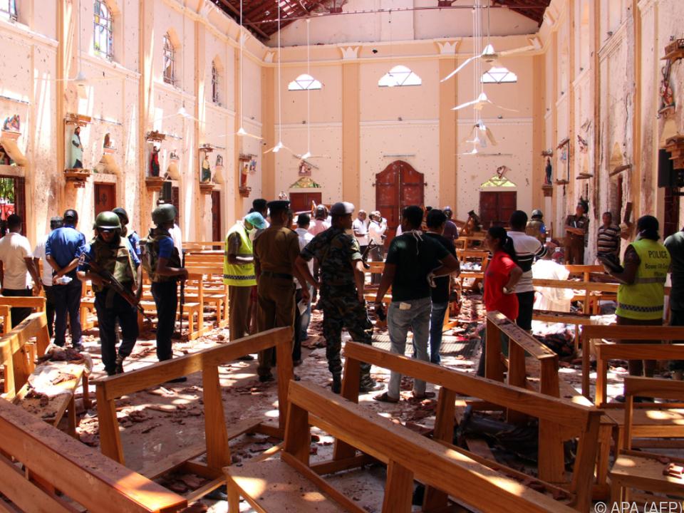 In den Kirchen gab es die meisten Opfer