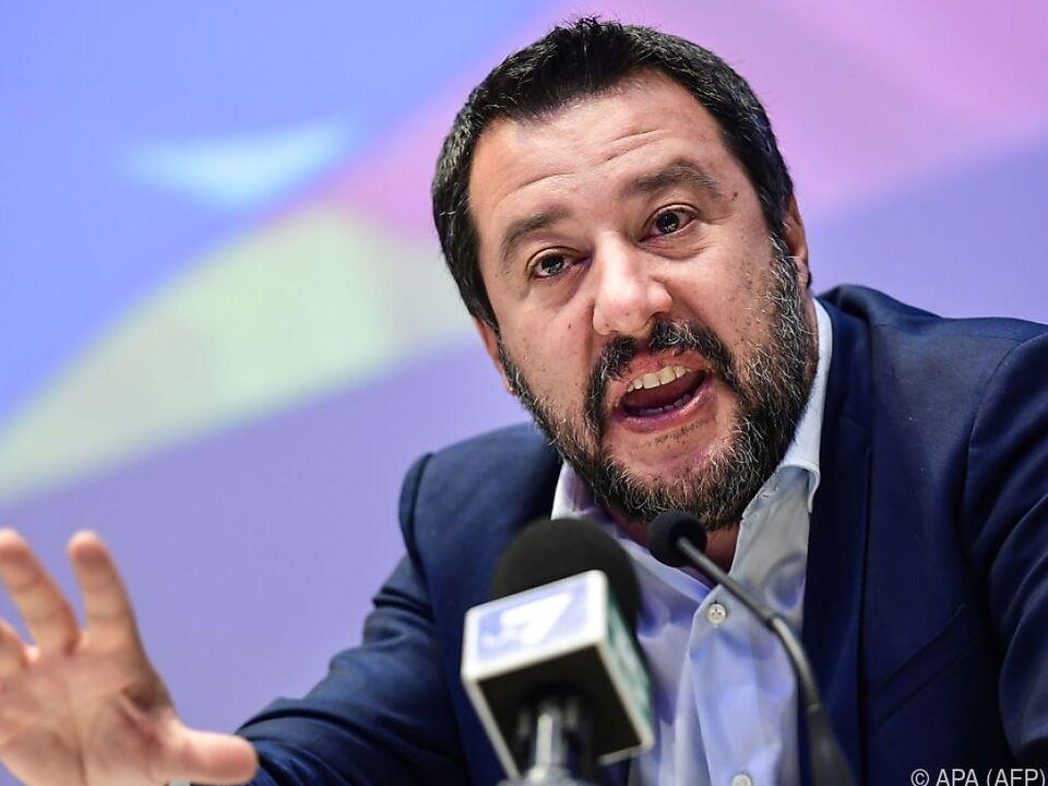 Italiens Innenminister Matteo Salvini steht in der Kritik