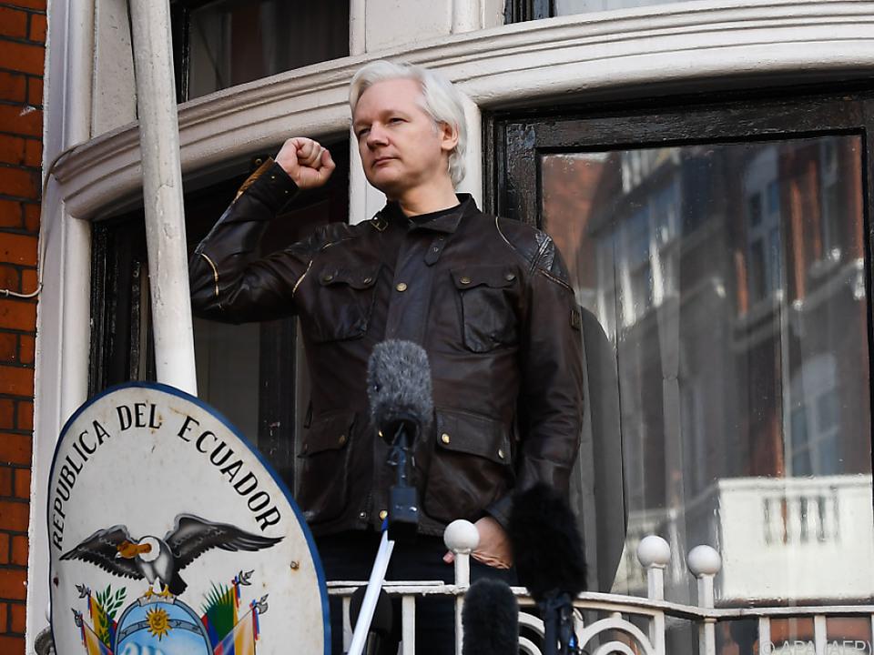 Julian Assange lebt seit Jahren ecuadorianischen Botschaft