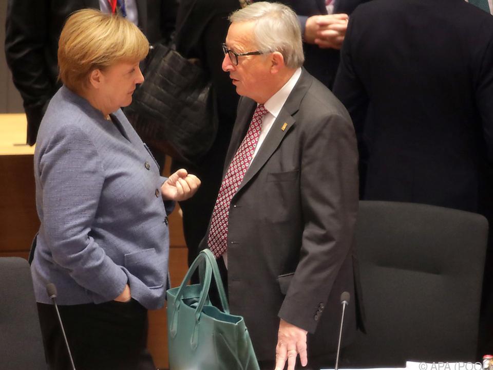 Juncker hält Merkel für ein \